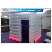 China Colored Customized Inflatable Led Photo Booth Enclosure Rental With Internal Blower wholesale