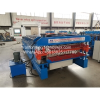 China Aluminum Roofing Sheet Roll Forming Machine Double Layer Metal Tile Making Machine wholesale