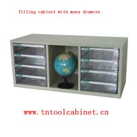 China plastic drawer file cabinet with many clear drawers wholesale