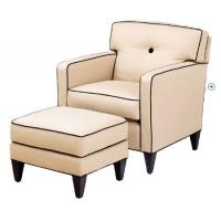 Buy cheap High End Cream Leisure Chair Ottoman Accent Two Arm Chaise Lounge from wholesalers