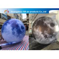 China 210T Polyester Inflatable Lighting Decoration / Inflatable Moon Globe wholesale