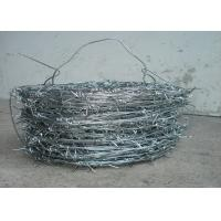 China 1.5cm - 3cm High Tensile Fencing Barbed Wire 16 * 16 Double Strand For Fence wholesale