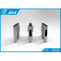 China Stainless Steel Speed Gate Turnstile 3000000 Cycles Service Life With Side Led Direciton Indicator wholesale