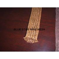 "China 2 "" Width Knitted Copper Wire Mesh Double / Multi - Filament Durable And Long Service Life wholesale"