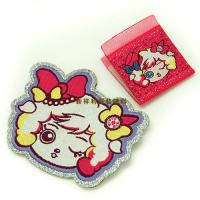 China Lovely Hot Melt Adhesive Woven Clothing Labels Iron On Backing With Laser Cut wholesale