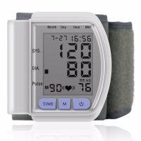 China LCD Digital Home Automatic Wrist Blood Pressure Pulse Sphygmomanometer and Tonometer Monitor wholesale