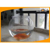 Buy cheap Beautiful 4L Round PET Plastic Fish Bowl , Aquarium Fish Tank For Home Decorative from wholesalers