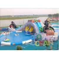 China Extrior Amazing Inflatable Amusement Park Security For Children wholesale
