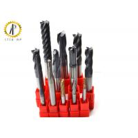 China Extra Long Carbide End Mill For Router , Metal Lathe Cutting Tools HRC40-65 on sale