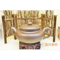 China Catering Antique Brown Yixing Zisha Teapot Handmade 600ml For Drinking wholesale