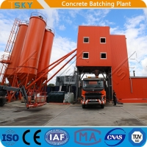 China TSKY MS3000 Mixer 180m3/H HZS180 Concrete Batch Plant wholesale