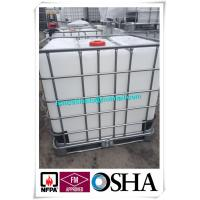 Quality Acid liquid storage container type Flammable Drum Cabinet 1000L IBC tank, HDPE IBC Tank with Metal Pallet for sale
