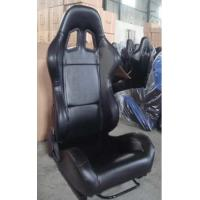 China Black PVC Leather Comfortable Racing Seats With Harness OEM / ODM Welcome wholesale