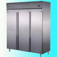 China Custom 3 doors Commercial Upright Freezer Energy Efficiency wholesale