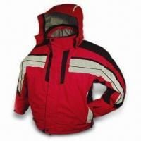 China Men's Ski Jacket with Hood and Polar Fleece Lining, Available in M, L, XL, and XXL Sizes wholesale