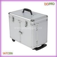 China Silver Aluminum Hair Stylist Tool Case Trolley Hairdressing Case (SATC006) on sale