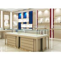 China High End Wood Gold Shop Furniture Jewelry Showroom Interior Design wholesale