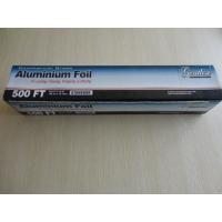 China Household aluminum foil roll in oven for food use with color box 150m on sale