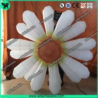China 2m Beautiful White Flower Inflatable Led Light For Party Wedding Decoration With Blower wholesale