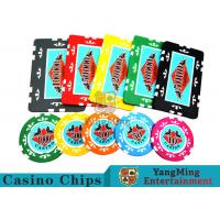 China Entertainment ABS Plastic RFID Casino Chips With Custom Logo Dedicated Box wholesale