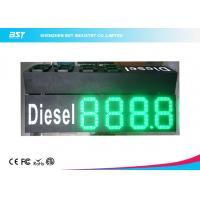 China Custom 10 Green Gas Station Digital Price Signs To Display Daily Prices wholesale