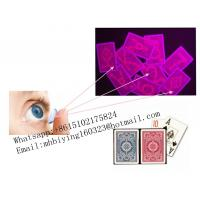 Buy cheap Kem red plastic luminous marked playing cards/uv contact lenses/perspective from wholesalers