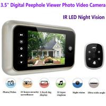 China 3.5 inch Screen Digital Door Peephole Viewer Camera 120 Degree Wide Angle Video Doorbell Phone Door Eye IR Night Vision wholesale