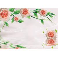 China Green Healthy Livable Bamboo Fiber Board / Flower Rose Fiber Wall Panels Easy Install wholesale