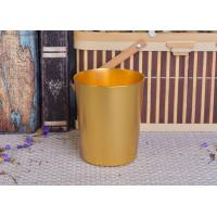 China 334ml Gold Metal Aluminum Tin Candle Holders / Candle Jar For Home Decoration wholesale