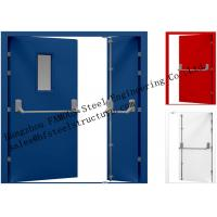 China Galvanized Industrial Hollow Steel Fire Doors For Residential Application on sale
