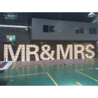 Buy cheap Customized 1.5m Height White Light Up Wedding Letters LED Letter Sign For Decoration from wholesalers