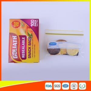 Resealable Ziplock Snack Bags Antifouling Printed , Clear Plastic Snack Bags