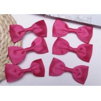 China Pink Tie Christmas Ribbon Bow Tie , Satin Ribbon Bows Eco Friendly wholesale
