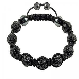 China 2012 new style Fashion Shamballa 10mm Czech Crystal Bangle Bracelets for friends wholesale