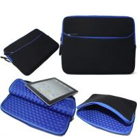 China Blue Shockproof Laptop Sleeve , Neoprene Macbook Pro 13 Inch Sleeve wholesale