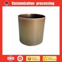 China Copper plated stainless steel gardening flower planters flower pot on sale