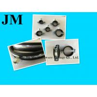 China Heavy Duty Black Rubber Pipe Clamp , 2 Inch Wall Mount Pipe Clamp / Fasteners wholesale