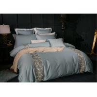 China Fashionable Blue Modern Duvet Covers 4 Pcs Twin / Queen / King Size OEM wholesale