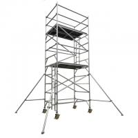 Buy cheap Double width aluminum scaffold tower with 4.5m standing height from wholesalers
