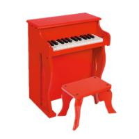 China Baby Upright Mini 25 Key Antique Toy Piano Red / Black For Home U25 wholesale