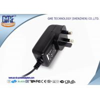 China Black 3 Prong 24W 2A 12 volt ac dc adapter With CE Certified wholesale