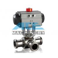Quality Stainless Steel Pneumatic M21 Type Flow Diversion Valve Food Grade Handle Divert for sale