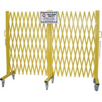 """China Yellow Folding Barrier Gate Accordion Safety Barriers Max Opening 20' X 52 ½"""" High wholesale"""