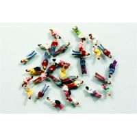 Plastic 1:300 Architectural Scale Model People Painted Figures 0.6cm
