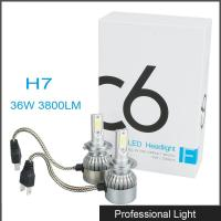 China New 360° Viewing Angle LED H7 Headlight 36W C6 Lighting Bulb IP67 Waterproof for Jeep wholesale