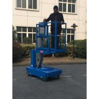 Quality Single Mast Self Propelled Elevating Work Platforms For Indoor Maintenance for sale