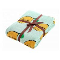 China Pure Cotton Lemon Pattern Custom Baby Blankets For Sleeping And Outdoor wholesale