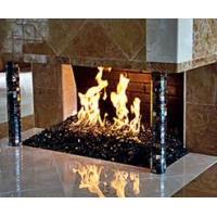 China Black Fire Pit Glass with mirror reflection on sale