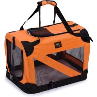 China Soft Folding Travel Collapsible Pet Dog Crate Carrier Bag with leash holder wholesale