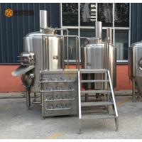 Quality 300L Capacity Brewhouse Equipment , Stainless Steel 3 Vessel Brewhouse for sale